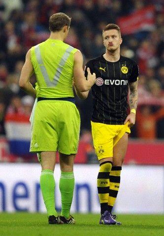 Manuel Neuer Marco Reus Marco S Face Borussia Dortmund Futebol Mundial Dortmund