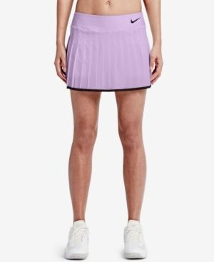 Court Victory Dri Fit Pleated Tennis Skirt In Violet Mist Black Tennis Skirt Pleated Tennis Skirt Womens Tennis Skirts