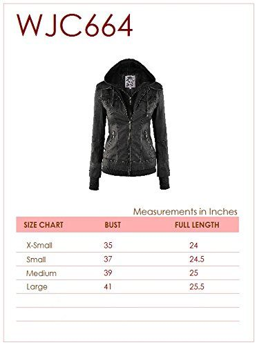 61c3b37154 LL Womens Hooded Faux leather Jacket at Amazon Women s Coats Shop ...