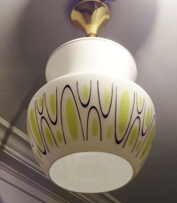 Original 1950s atomic age mid century french ceiling light fixture wow extremely rare find