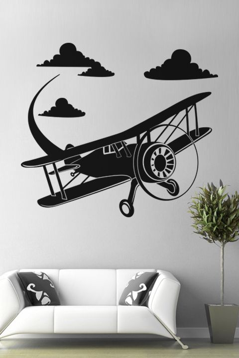 Airplane wall decal by walltat also decals removable stickers and rh pinterest