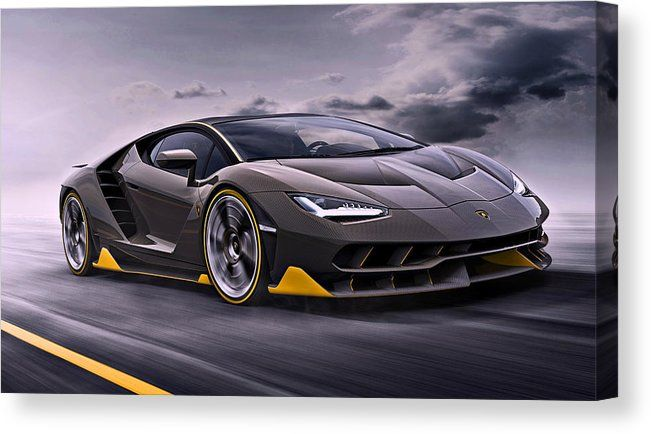 2017 Lamborghini Centenario Canvas Print by Movie Poster Prints.  All canvas prints are professionally printed, assembled, and shipped within 3 - 4 business days and delivered ready-to-hang on your wall. Choose from multiple print sizes, border colors, and canvas materials.