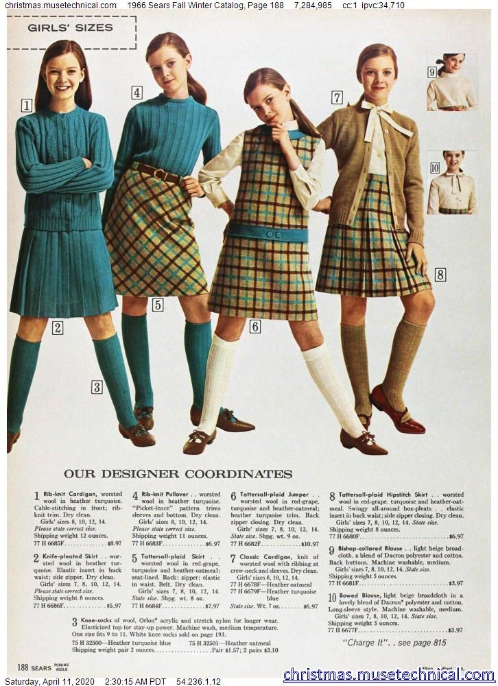 1966 Sears Fall Winter Catalog, Page 188 - Christm