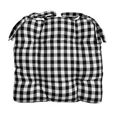 15 Sq Country Gingham Buffalo Checks Dining Chair Pads Cushions 4 Color Cotton