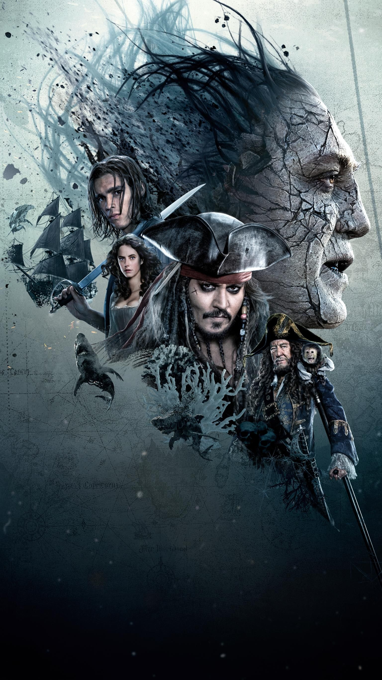 Pirates Of The Caribbean Dead Men Tell No Tales 2017 Phone Wallpaper Moviemania Pirates Of The Caribbean Jack Sparrow Wallpaper Pirates