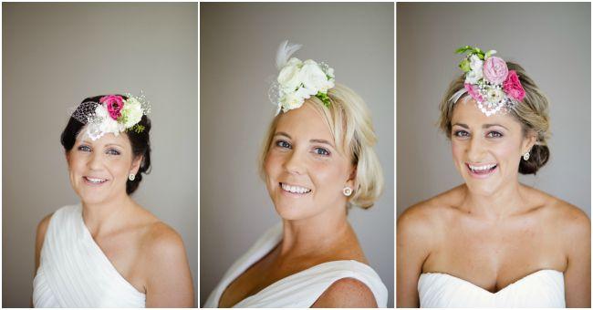 Fresh flower fascinator. Bridal accessories. Wedding hair accessory. Real  Wedding  Penny   Duane on Maroochy River  21430e1d780