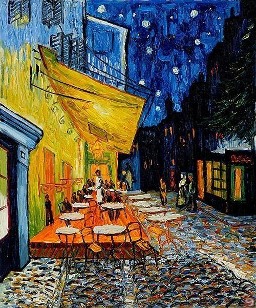 Terraza De Café Por La Noche 1888 Van Gogh Arte Pinturas