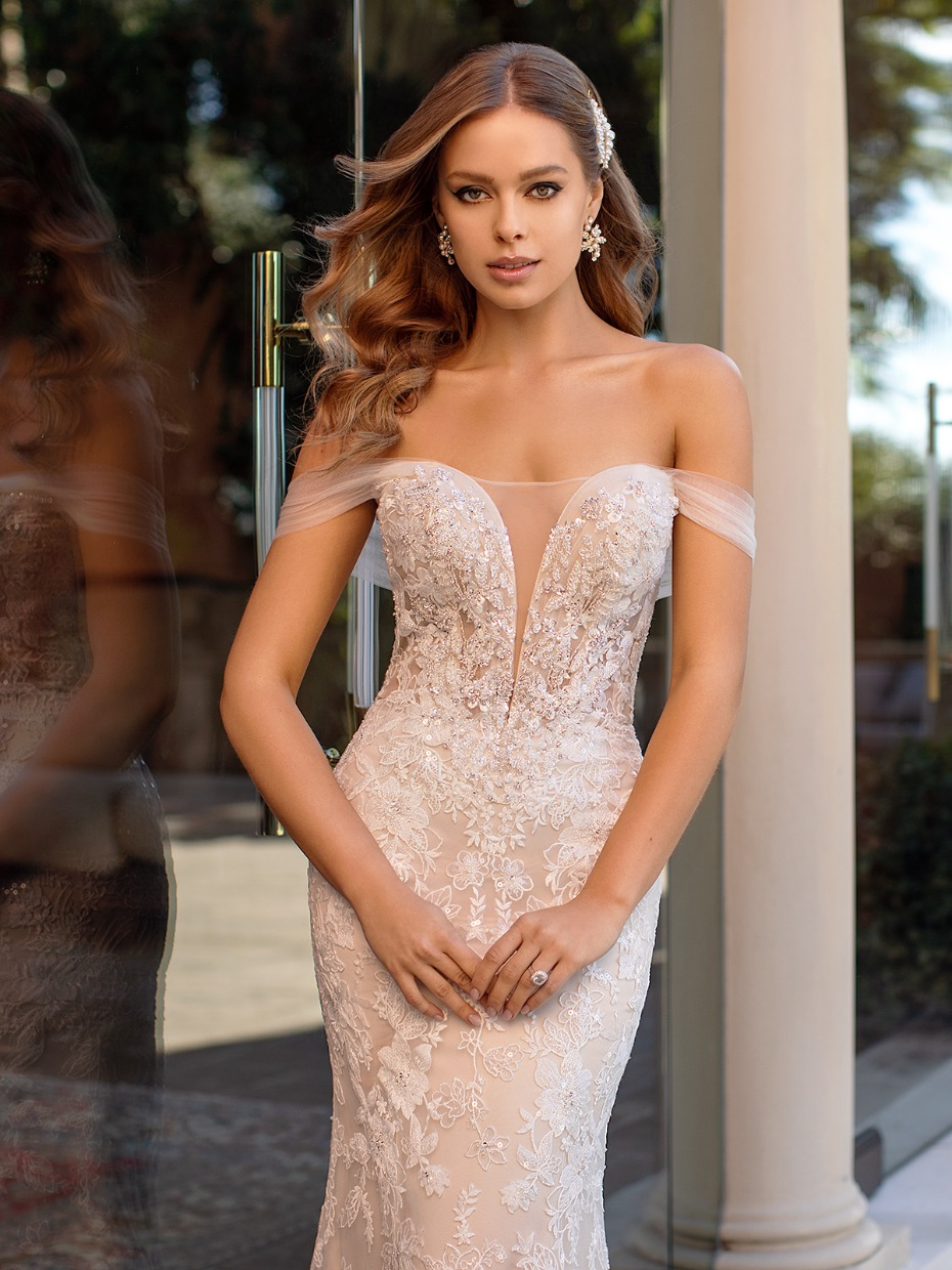 We Need This Brand New Lumiere Collection From Val Stefani Bridal Off Shoulder Wedding Dress Wedding Gowns Mermaid Wedding Dresses Lace [ 1240 x 930 Pixel ]