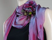 There are lots of ways to wear a silk scarf to the prom.