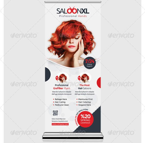 Nice 19 Cool Hair Salon Banner Signage PSD