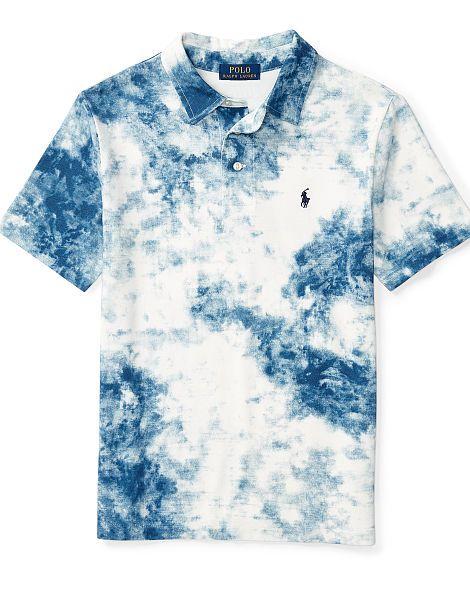 379adf3684 Tie-Dye Cotton Mesh Polo - Boys 8-20 Short Sleeve - RalphLauren.com ...