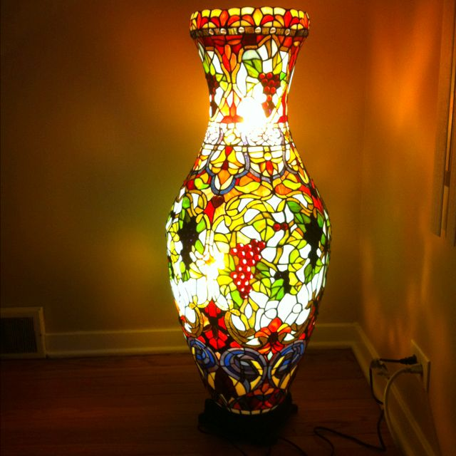 Tiffany style vase floor lamp for Tiffany style vase floor lamp