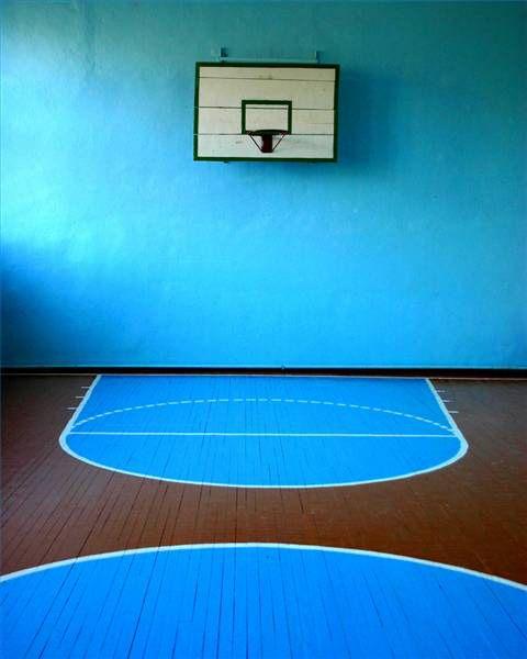 Blue B Ball Court Basketball Indoor Basketball Court Blue