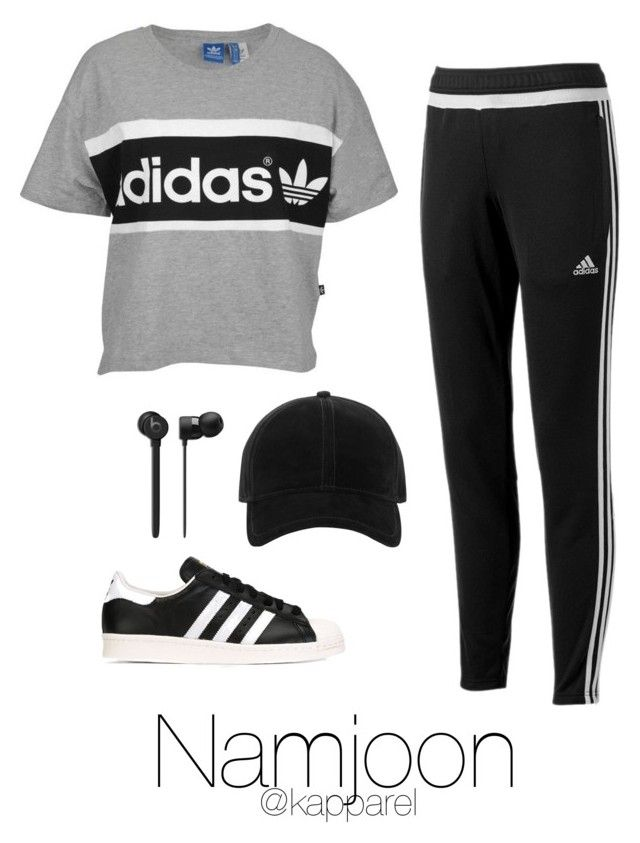 """Dance Practice: Namjoon"" by kapparel ❤ liked on Polyvore featuring adidas, rag & bone and adidas Originals"