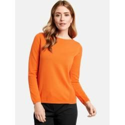Photo of Pullover mit Struktur-Mix Orange Gerry Weber