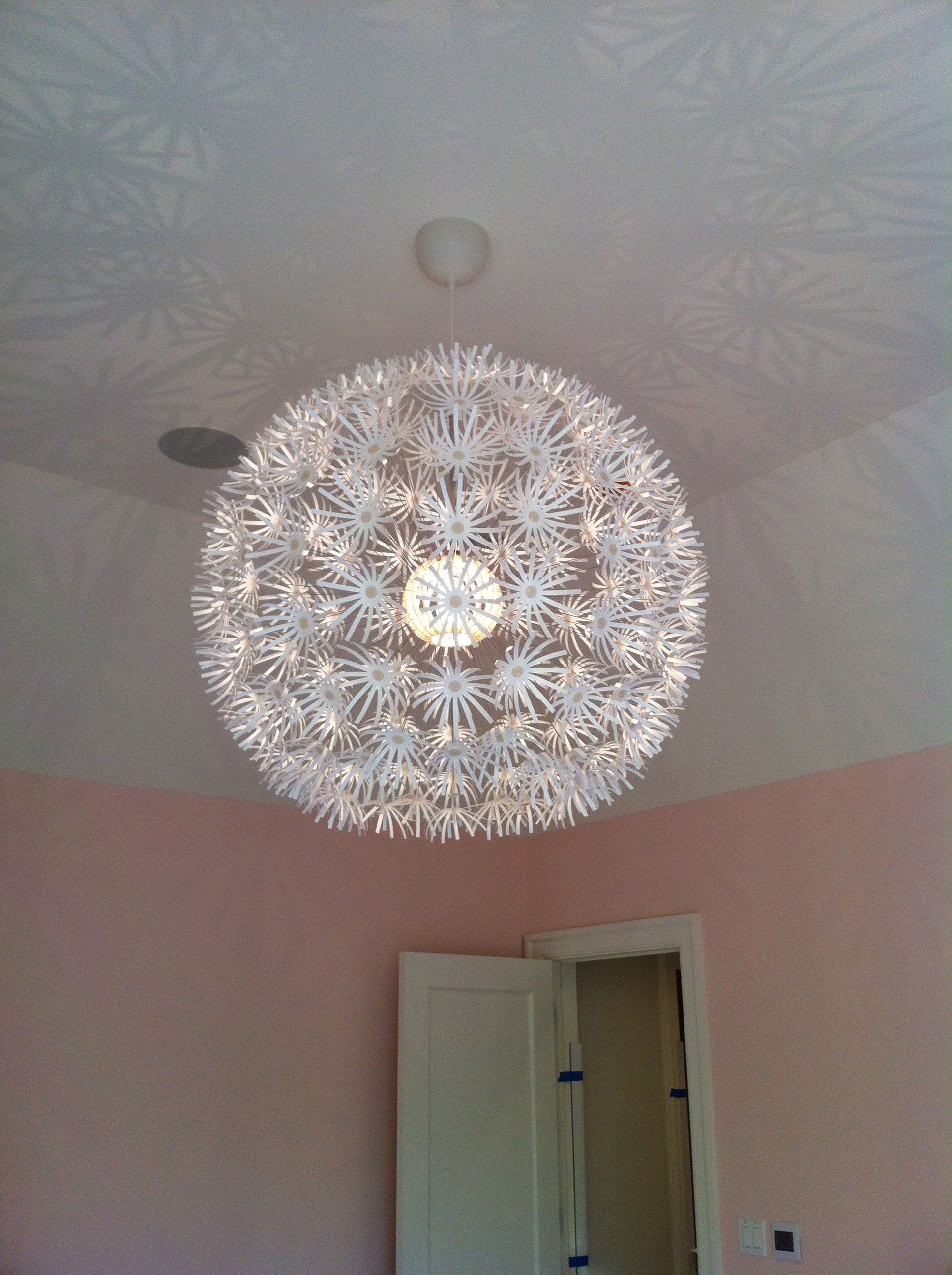 Love This Pendant Light From Ikea For A Little Girls Room It S White But Takes On The Color Of The Walls In The R Kid Room Decor Kids Room Little Girl