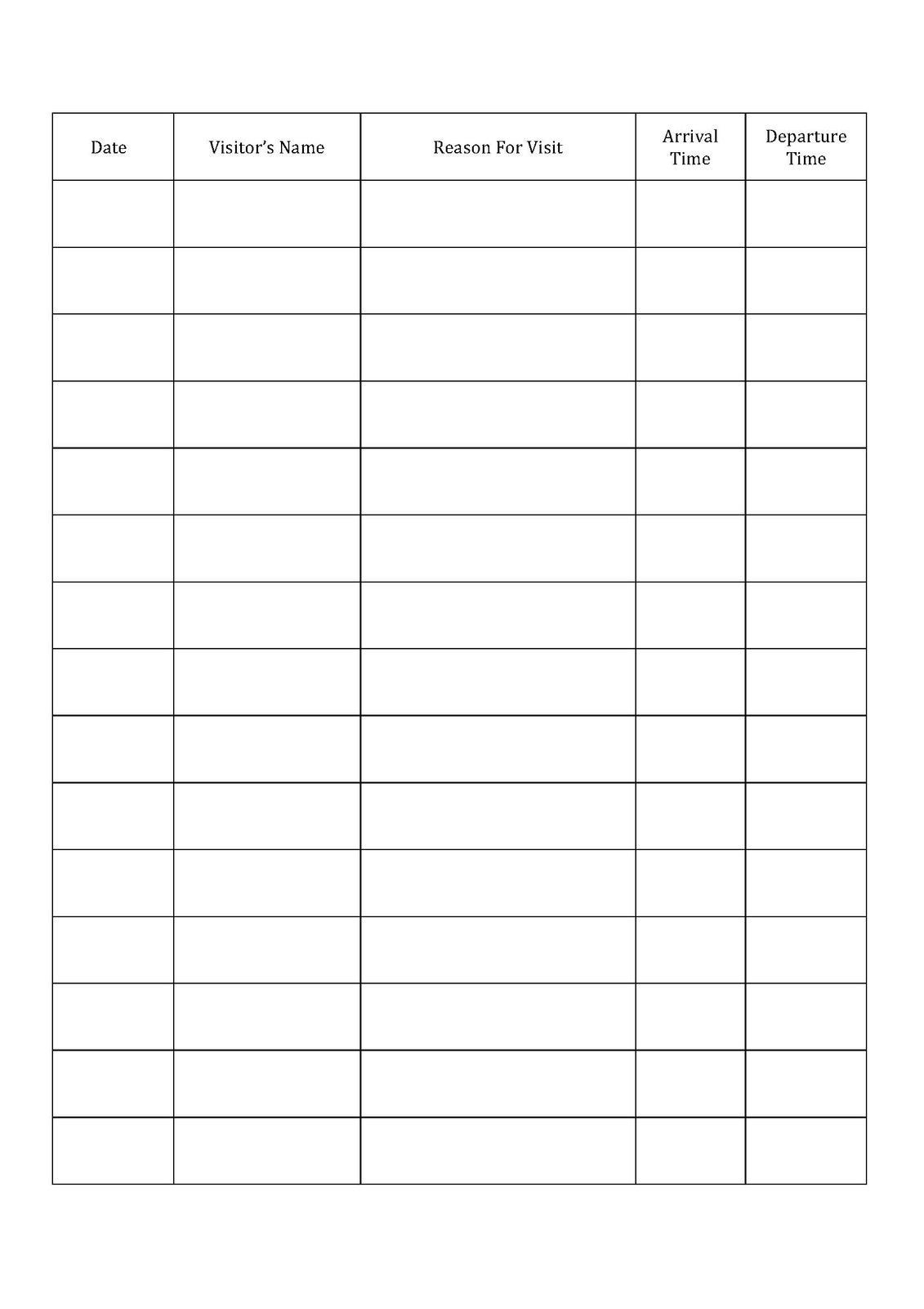 Visitor Log Book - Signing in and out - Childminding | Teaching ...