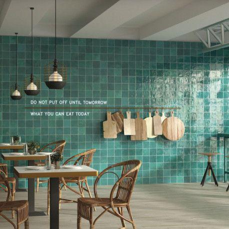 Carrelage Mural Aspect Zellige Souk Turquesa Interior Home