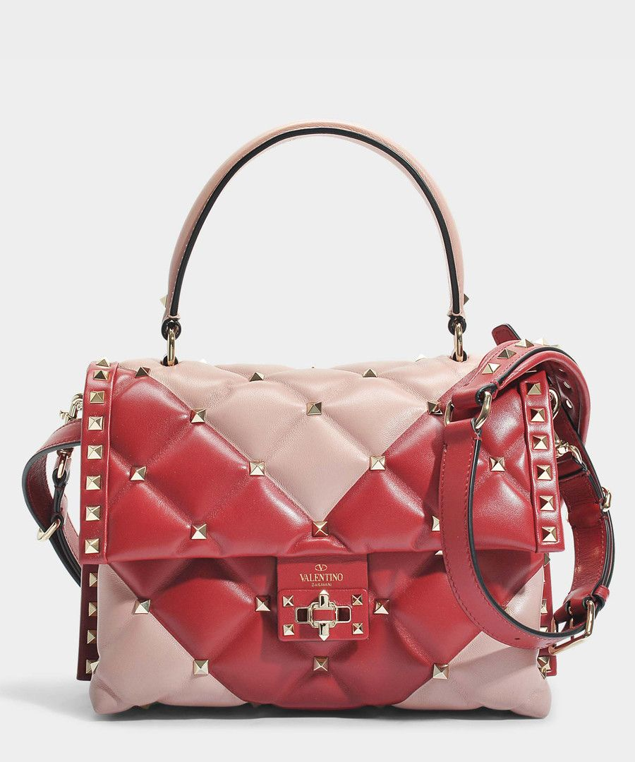Candy Red Pink Leather Shoulder Bag Sale Valentino Garavani Bags Used Designer Handbags Iconic Bags
