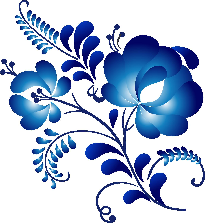 гжель картинки цветки голубики имеется множество