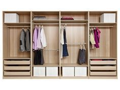 Superieur Closet Design Ideas, Ikea Pax Designer For Your Home Plywood Material Brown  Colored Metal Bar Cloth Hanger Drawers Bottom White Boxes Shelves: Modern  Tool