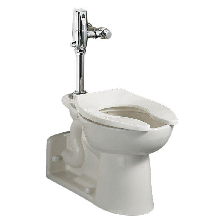 Priolo Flowise 16 1 2 H Floor Mount Elongated Toilet Bowl With Back Spud Toilet Bowl American Standard Toilet