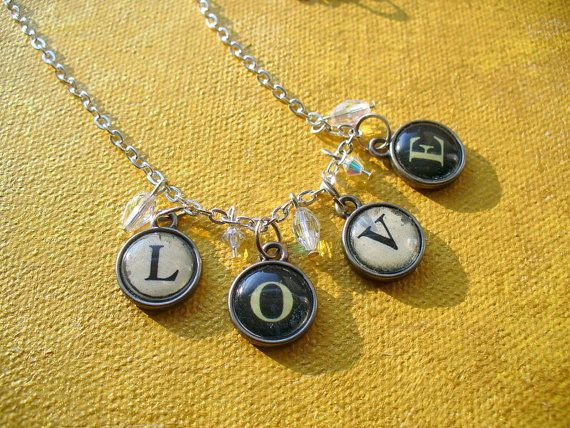 Type of Love Necklace by RachaelLaneDesigns on Etsy, $25.00