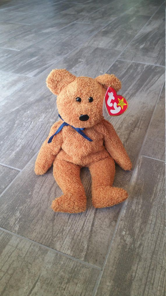 Fuzz the Bear Rare Collectible Vintage Original Ty Beanie Baby ERRORS Guys  Girls Boys Birthday Fall c6490ec1c47c