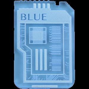 Keycard, Fluorescent Blue in 2020 Fluorescent, Blue