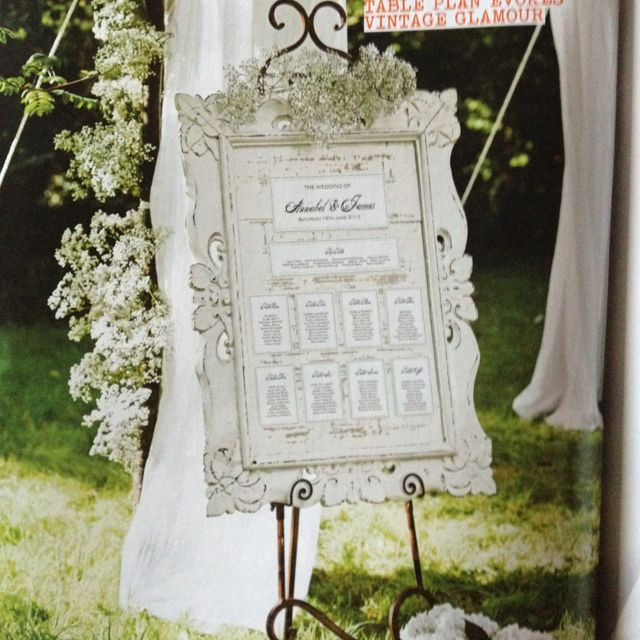 Vintage Wedding Table Plan Ideas: Vintage Shabby Chic Seating Plan