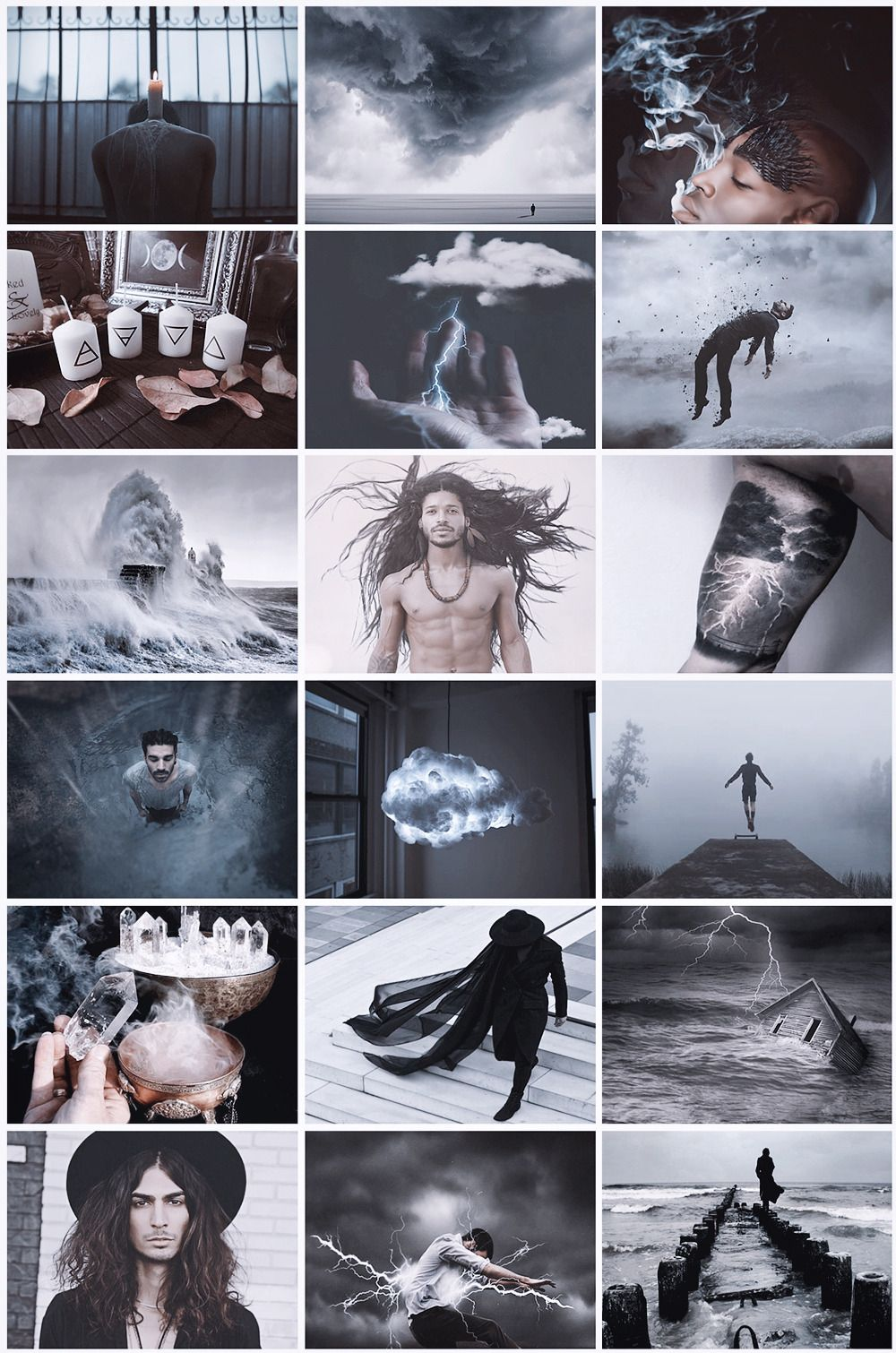 Male Storm Witch Aesthetic Witch Aesthetic Wicker Male