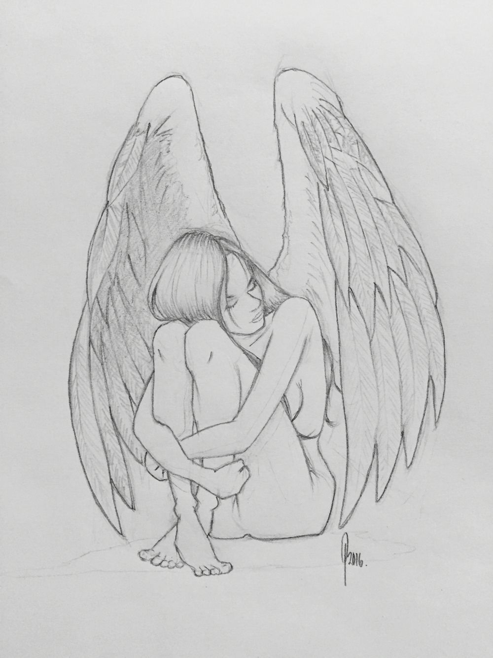 Guardian angel drawings in pencil easy image result for angel