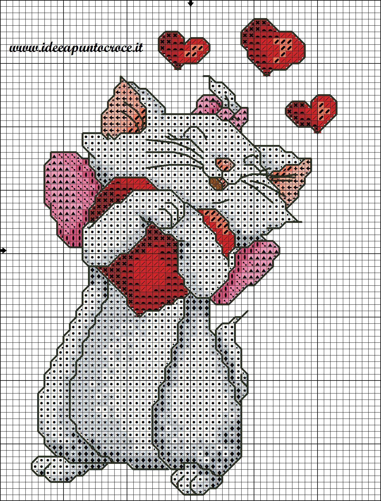 Molto SCHEMA PUNTO CROCE MINOU-MARIE ARISTOGATTI | Cross stitch  IH33