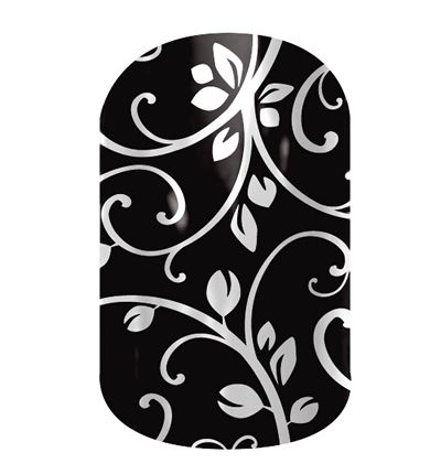Black Floral nail wraps by Jamberry Nails