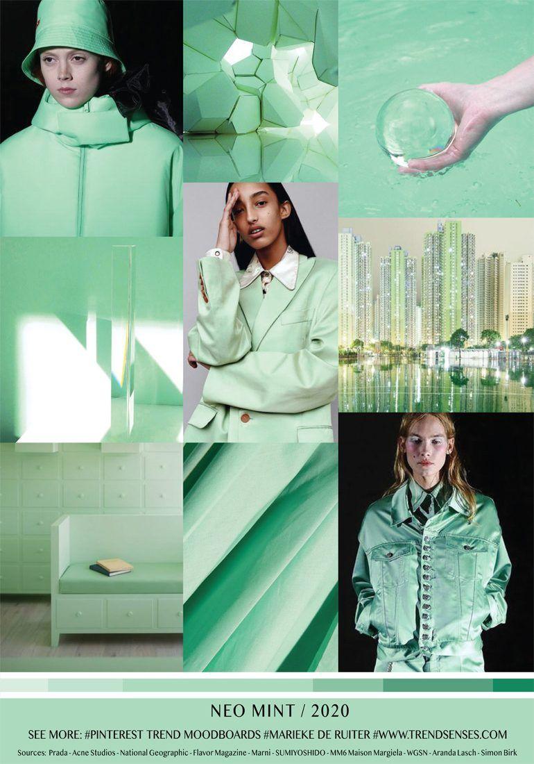 7d79545ffe8 MOODBOARD - NEO MINT - 2020 | Fashion Trends & Design Boards ...