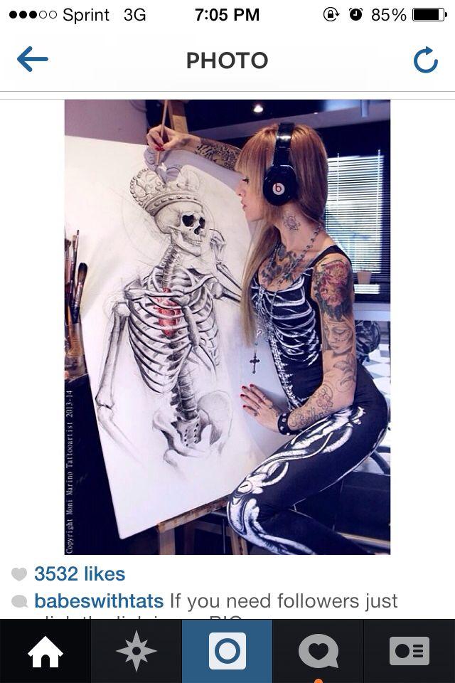 Skeleton king tattoo tattoos pinterest king for Skeleton king tattoo