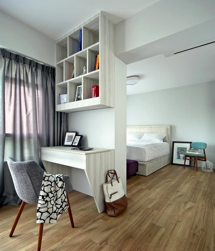 Master Bedroom Hdb strathmore ave, eclectic hdb interior design, master bedroom with