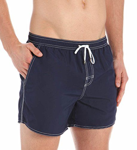 688f4553459e9 BOSS HUGO BOSS Mens Lobster 5 Inch Solid Swim Trunk Navy Blue Large --  Locate the offer simply by clicking the VISIT button