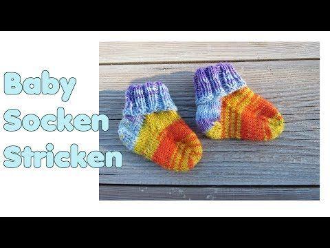 Baby Socken Stricken Komplette Anleitung Für Anfänger Bündchen