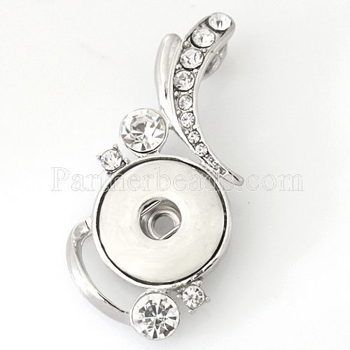 30pcs/lot metal Pendant necklace charm fit 18/20mm snaps crystal turtle pendant necklace jewelry ginger snaps buttons KB0283