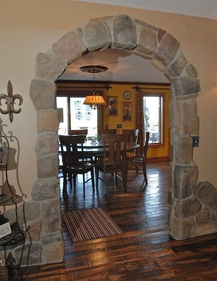 kitchen stone doorway arches design, pictures, remodel, decor and