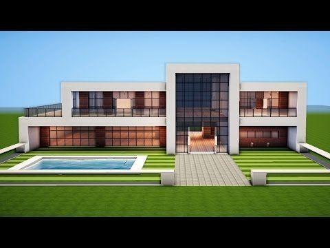 Einfaches modernes Haus-Design - Stil.Dekorationcity.com #minecrafthouses