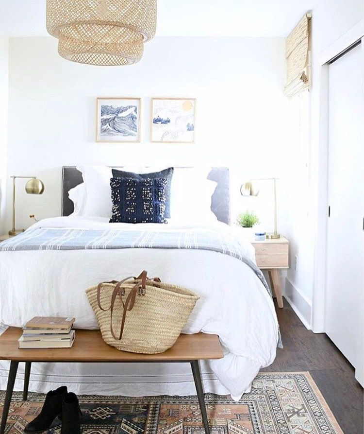 Love How Light Bright And Airy This Feels Guest Bedroom Design