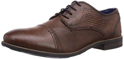Bugatti 312111121200, Zapatos de Cordones Derby para Hombre, Marrón (Cognac 6300), 44 EU amazon-shoes el-negro Cordones