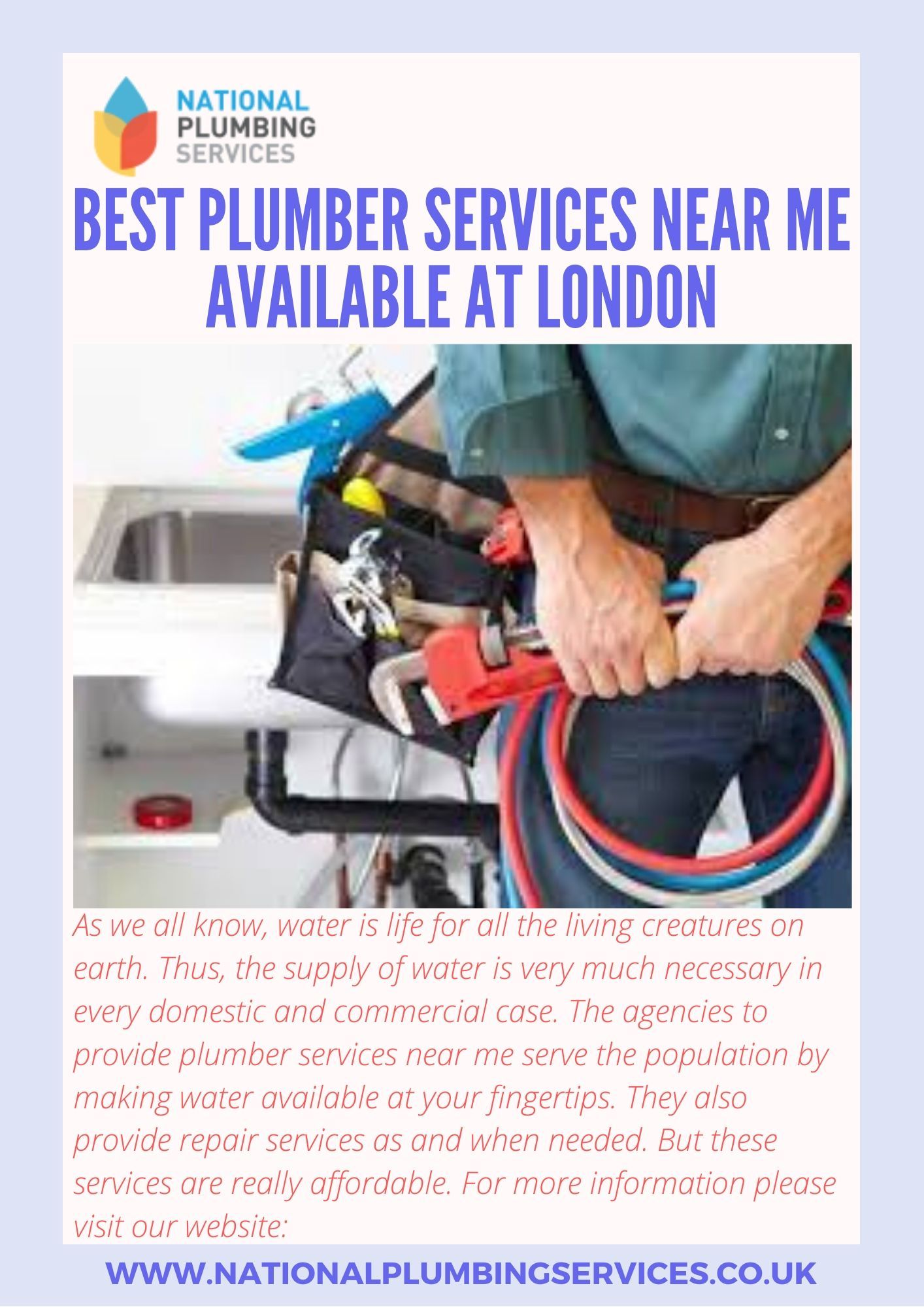 Best Plumber Services Near Me Available At London Making Water