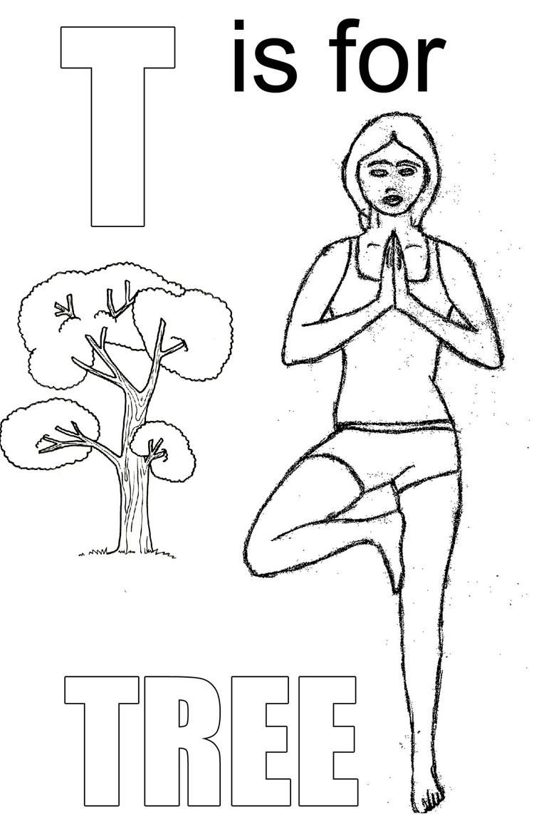 Yoga Pose Like Tree Letter T Coloring Page For Kids Coloring Pages For Kids Coloring Pages Coloring Pages For Boys [ 1167 x 750 Pixel ]