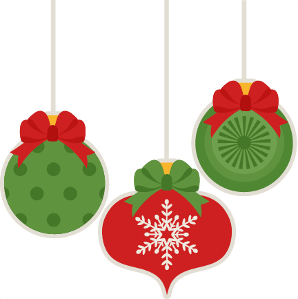 Christmas Ornament Set Scrapbook Cut File Cute Clipart Files For