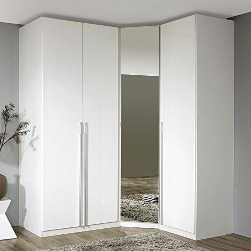 Eckkleiderschrank »MODENO221« Hochglanz weiß, Alpinweiß Höhe 223 cm ...