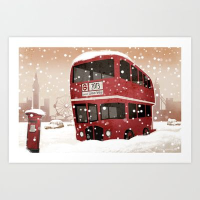 London   Art Print by Martynas Juchnevicius - $12.48