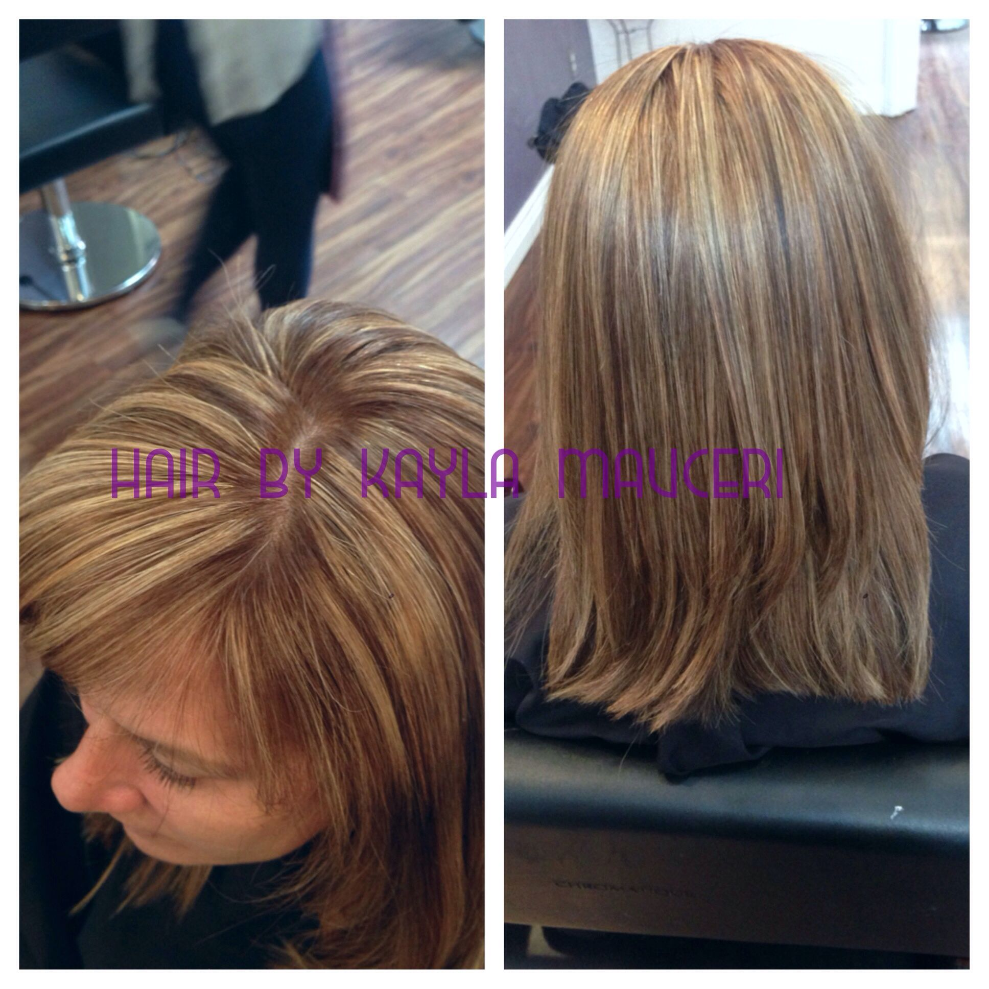 Highlights root color blonde hair  Hair by Kayla Mauceri
